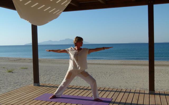Ingeborg in krijgerhouding Dru yoga kopie